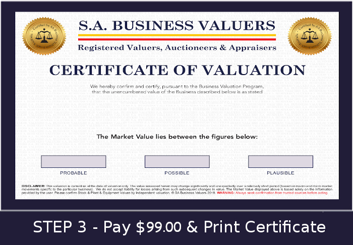 Business Valuation Calculator Home